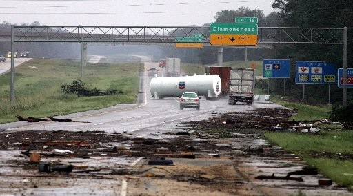 Oil Storage Tank Swept On I 10 Between Diamondhead And Bay St. Louis, MS